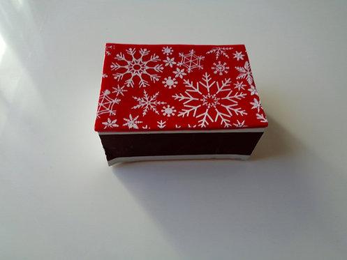 Boite d'allumettes Noël rouge et blanche