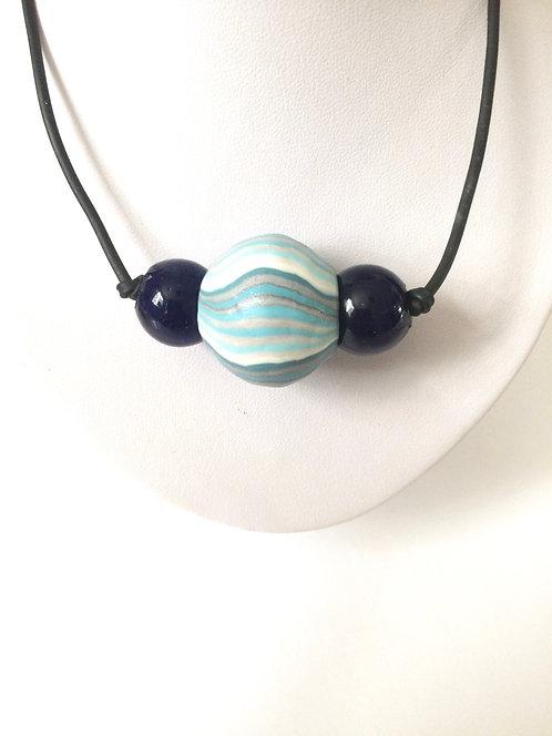 blue collar Striped ball