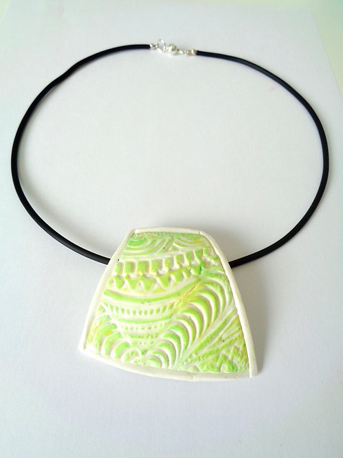 Necklace made of polymer clay