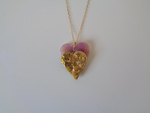 Double-heart pendant