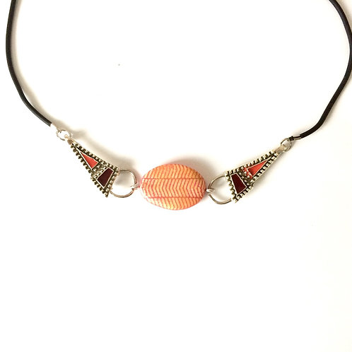 Amandine necklace in polymer clay