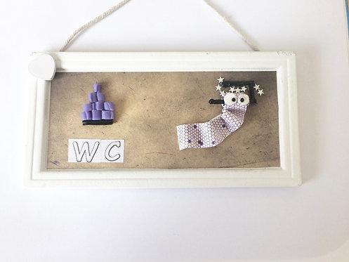 Plaque de porte décoration en polymère