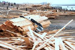 Wood Washed Up On Worthing Beach - 2008