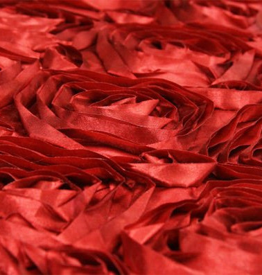Textured Floral Red