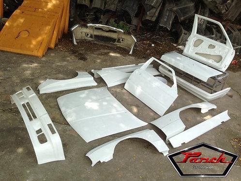 BMW E30 Fiberglass Bonnet, Doors, and Trunk/Boot lid.