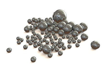 Chrome Steel Beads (1kg) - Grinding Media