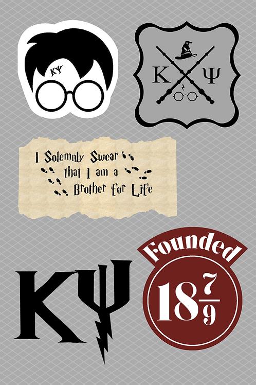 KΨ x HP Sticker Kit