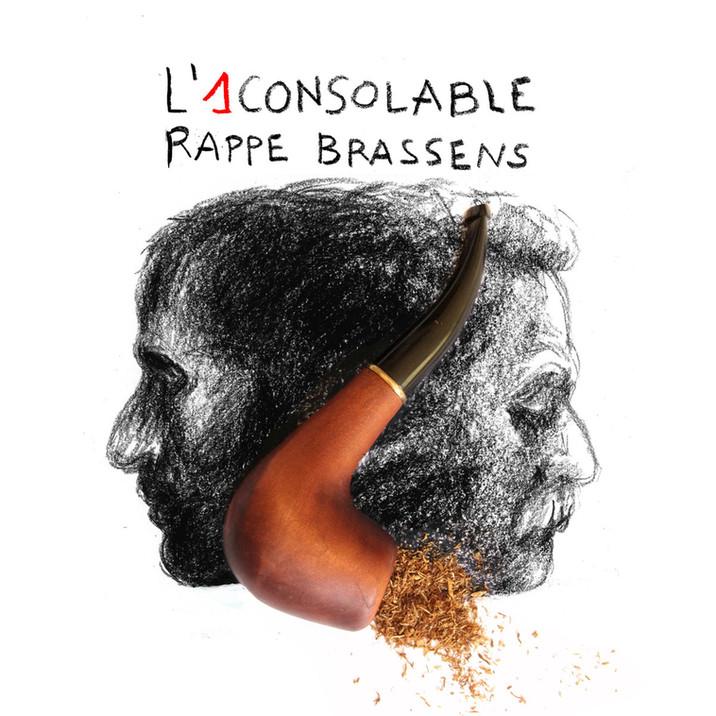 """couverture album """"l'1consolable rappe brassens"""""""