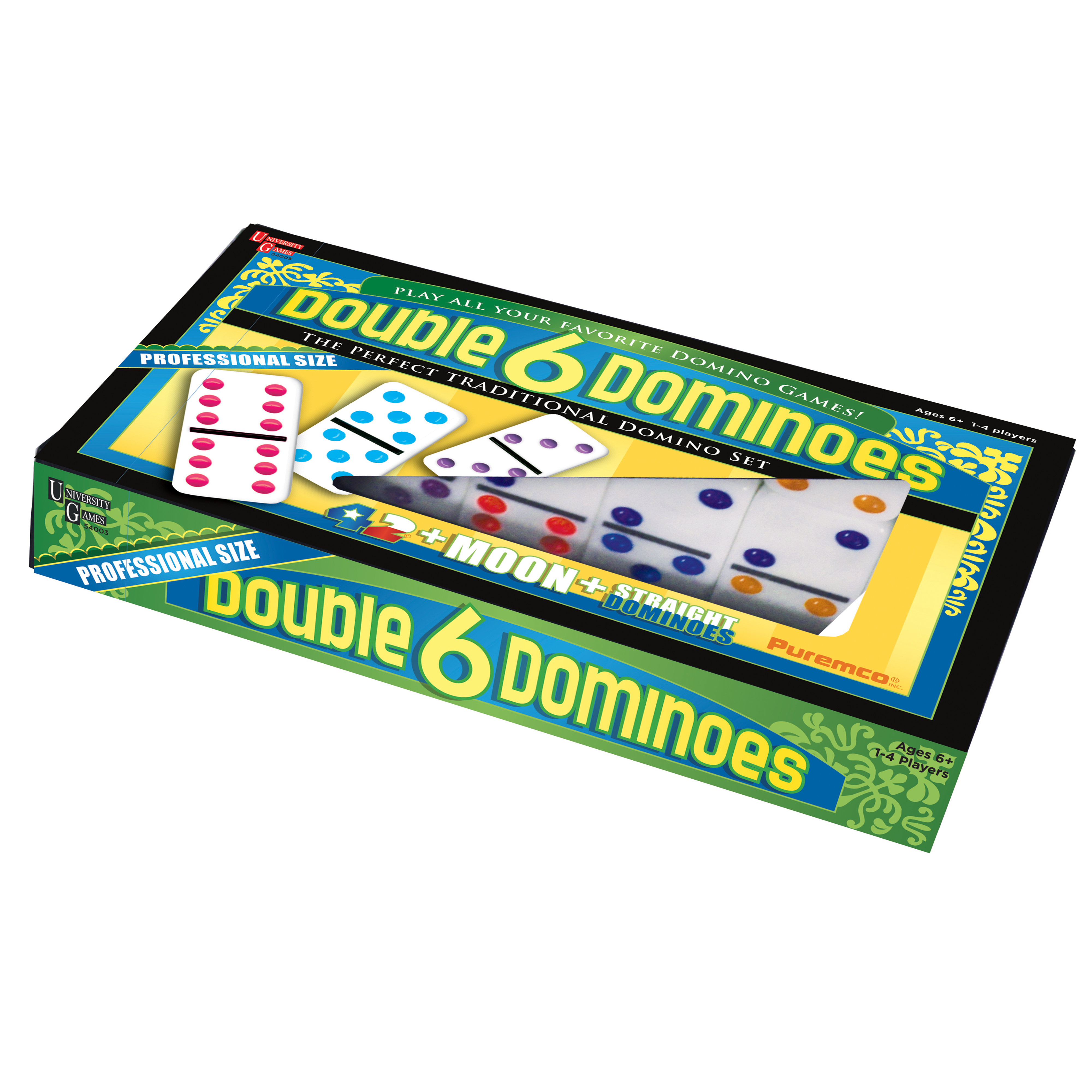 Double 6 Color Dot Dominoes