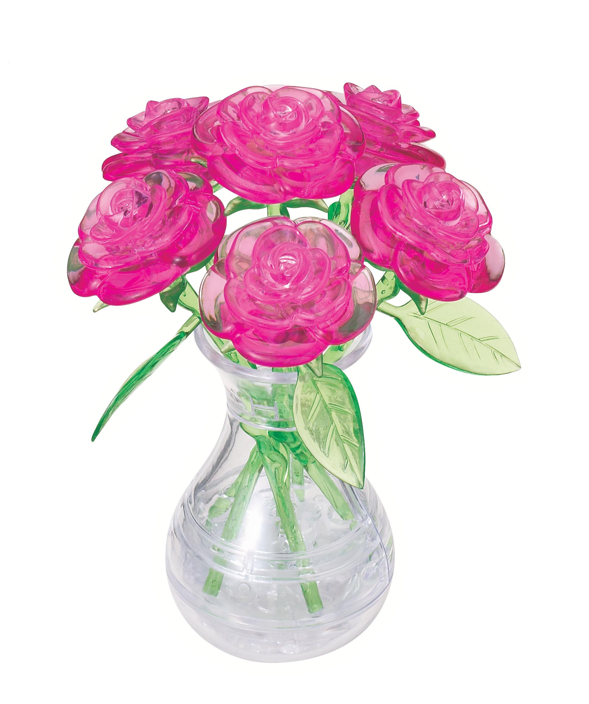 31073 Roses in Vase - Pink