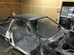AE86 フルレストア車両 ドライカーボン貼り付け