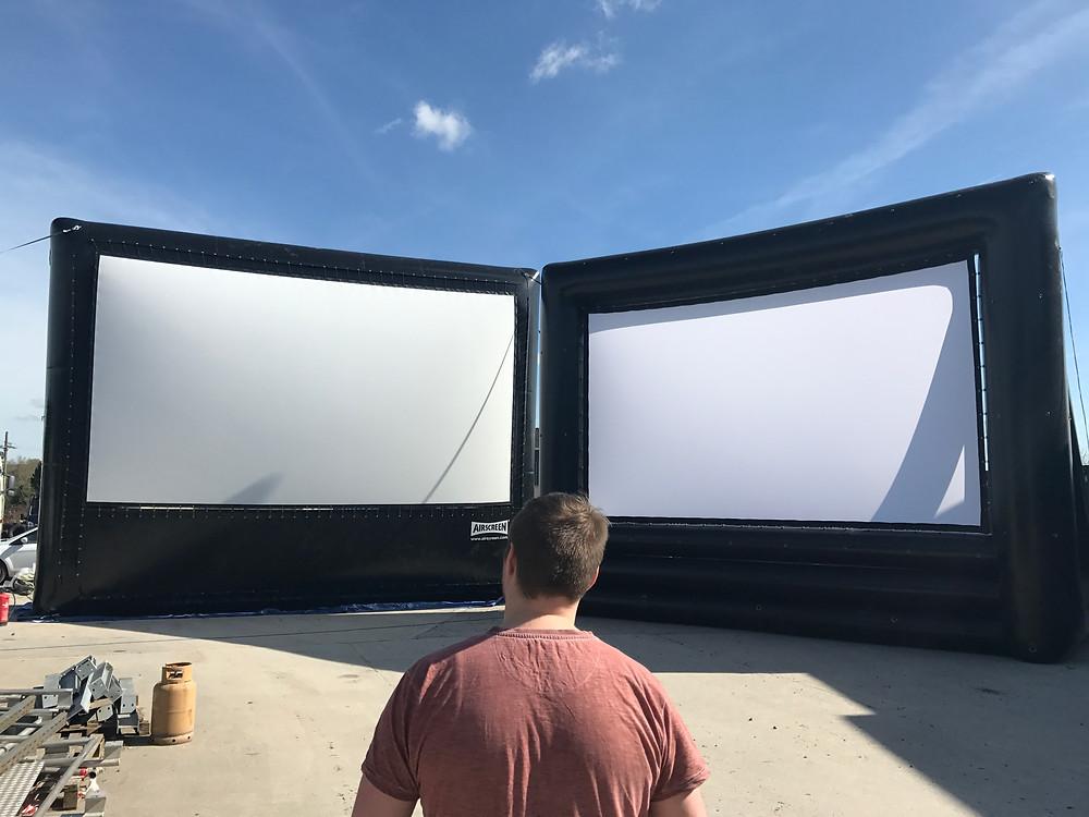Big Open Air Cinema Screens