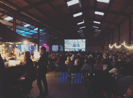 Outdoor Cinema inside a Barn