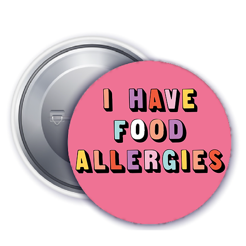 Pink Style Allergy Badge
