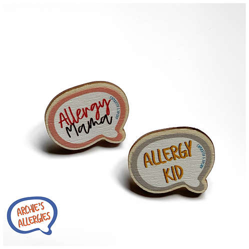 Allergy Mama & Allergy Kid Pin Badge