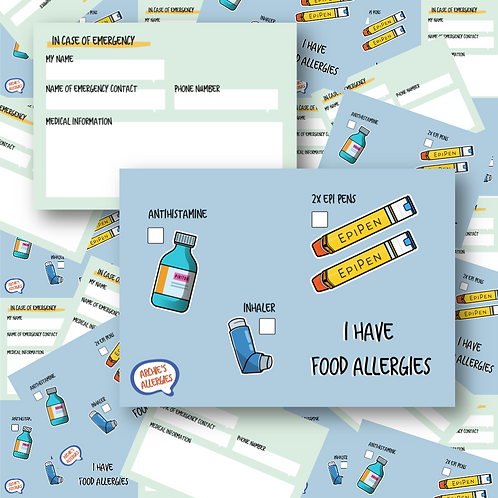 Allergy Medical Card