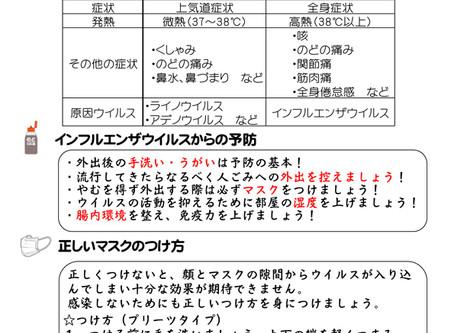 2015年冬号 「インフルエンザの流行迫る!!」