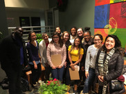 CUE Fellows join hands with volunteers to help canvass a neighborhood to ensure residents' voices are heard on a local policy issue, even if they can't attend the community meeting due to work, childcare, or other scheduling issues.