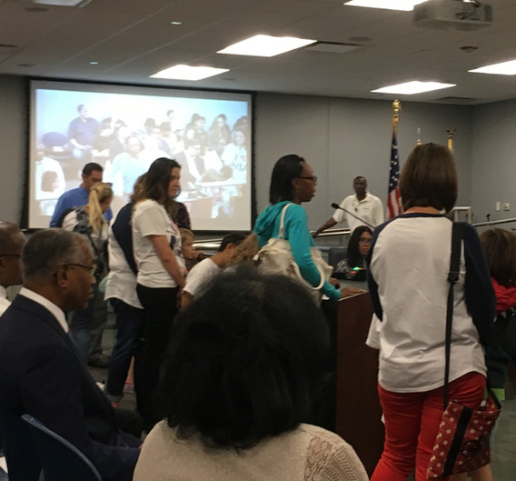 The completed Racial Equity Impact Assessment report is presented to the Chicago Board of Education in January 2018. The appointed school board votes to support the proposal.