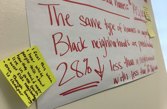 Neighbors share their experiences with racial inequities in housing in this Vote Equity party.