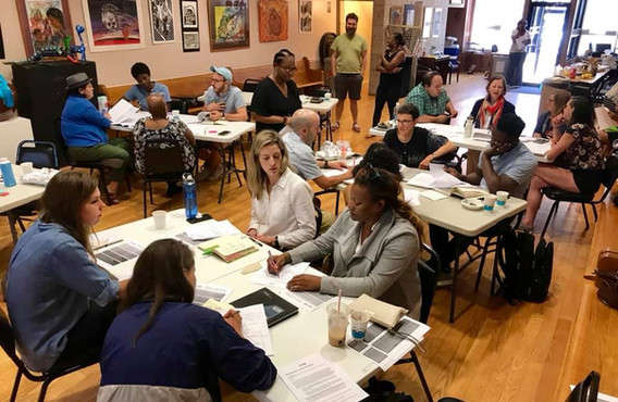 By attending the summer series, residents are becoming more familiar with a national model for how to consider issues of racial equity in policymaking.   After this training, participants are invited to apply to become a discussion faciliator with CUE.