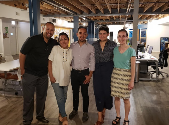 CUE Fellows committed nearly a year to this project (L to R): Adam Slade, Sendy Soto, Juan Sebastian Arias, Ellie Mejia, Sara Shaw.
