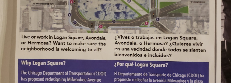 Bilingual flyering about this proposal invited community residents to come to meetings to learn about and assess the impacts of the proposal.