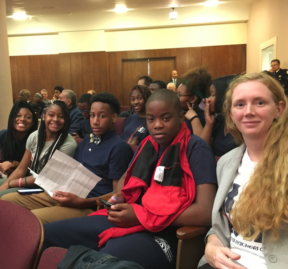After the BOE votes to approve the closure despite the REIA's results, NTA 8th Grade students led the charge to bring the NTA story to City Council.