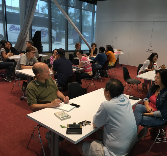 In contrast, CUE begins hosting a series of 10 community meetings to discuss, break down, and consider the benefits and burdens of the proposal in communities across South Loop, Bronzeville, and Chinatown. Here a meeting is held at Chinatown Public Library.