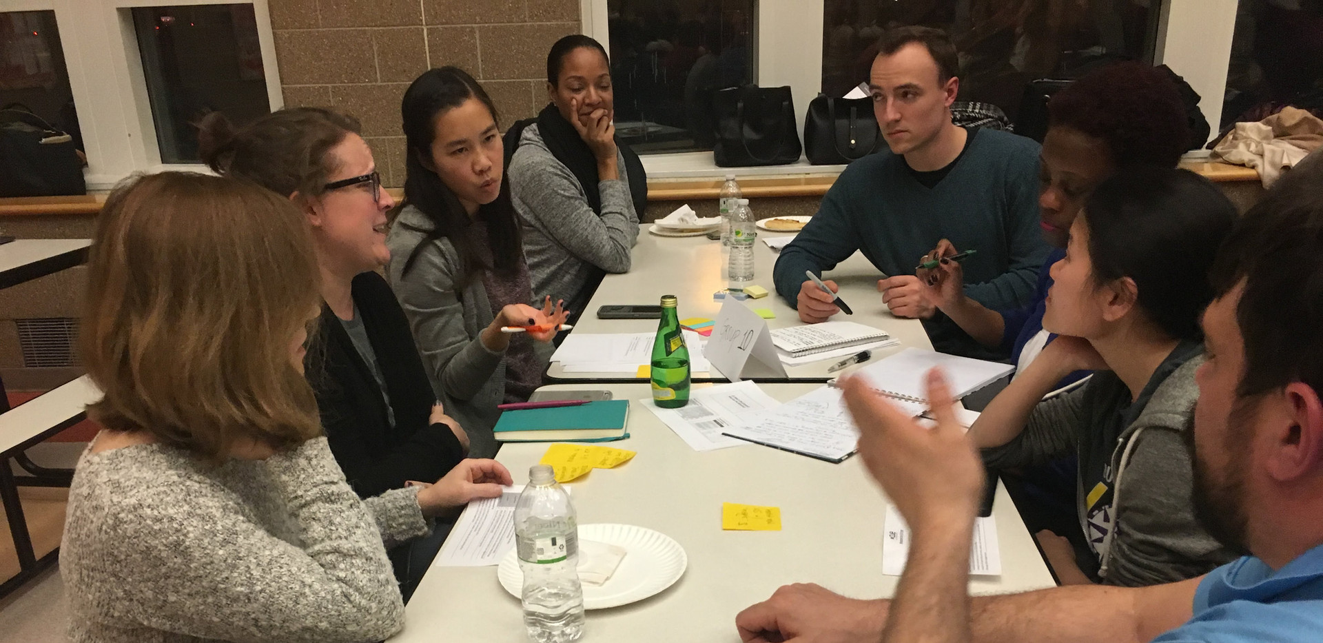 2018 CUE Fellows Vanessa Lee and Louis Makarewicz lead a discussion of burdens and benefits before the group begins to consider strategies to address potential harm.