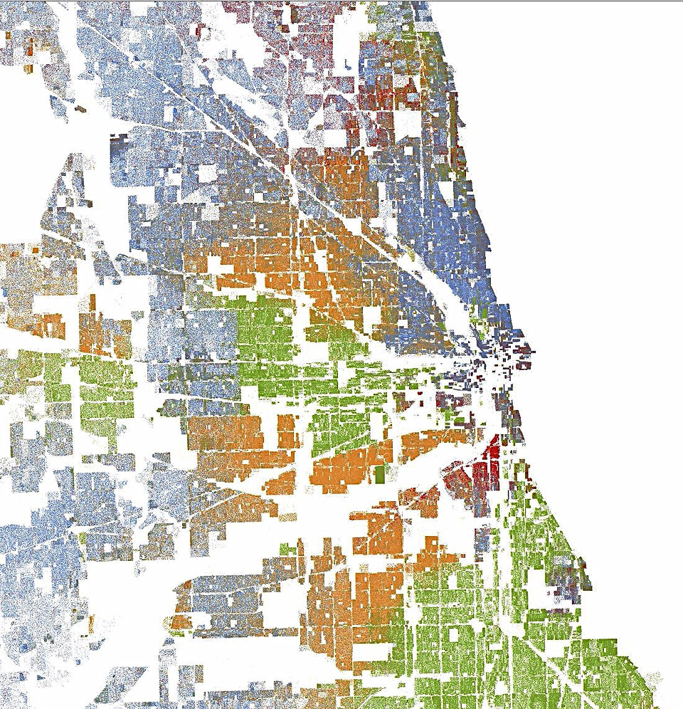 Chicago by racial demographics, Chicago racial dot map