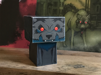 wolf paper toy