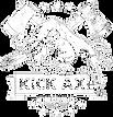 kick axe throwing washington DC logo whi