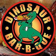 dinosaur BBQ menu logo kick axe brooklyn