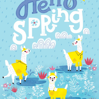 Llama's in Spring Puddles