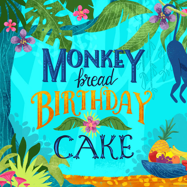 Monkey Bread Birthday Cake