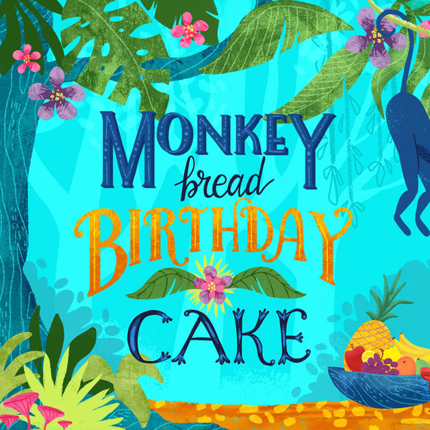 Monkey Bread Birthday Cake