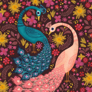 Vintage Peacocks