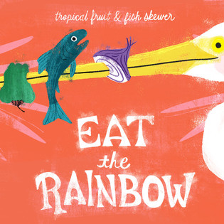 Eat the Rainbow Tropical Fruit & Fish Sk