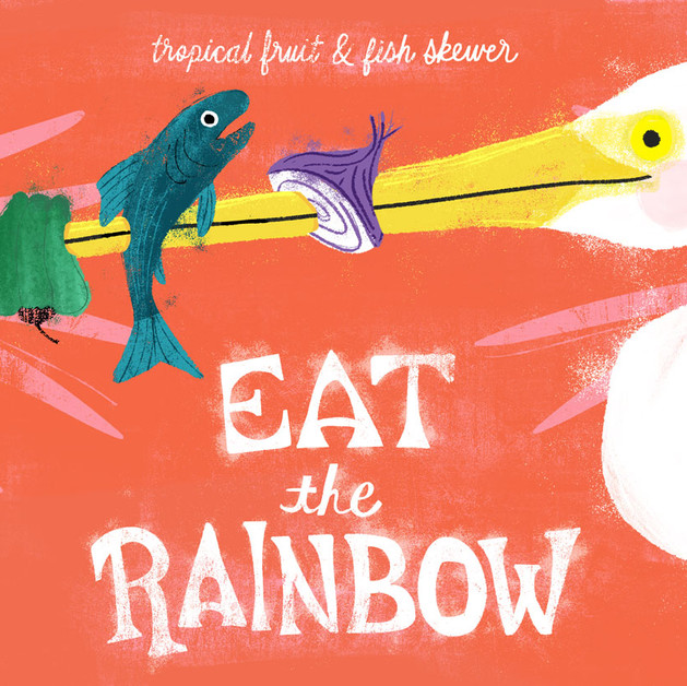 Eat the Rainbow Tropical Fruit & Fish Sk