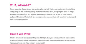Virtual Dance Recital Instructions