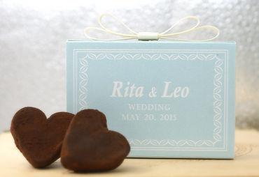 WeddingChocolate Heart2pcs 婚禮手造心型朱古力禮盒 2顆裝