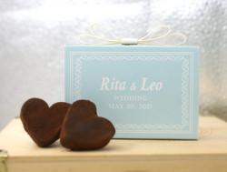 Wedding Chocolate Hearts