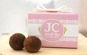 WeddingChocolate Truffle2pcs 婚禮手造松露朱古力禮盒 2顆裝