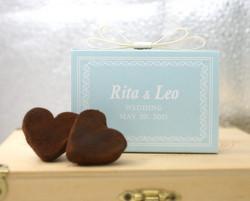 婚禮回禮心型巧克力禮盒 2顆裝