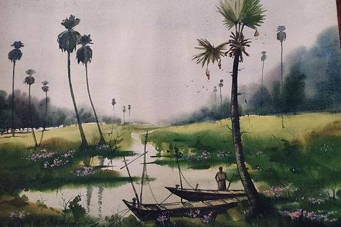 Watercolor Painting 01 by Ashoke Banerjee
