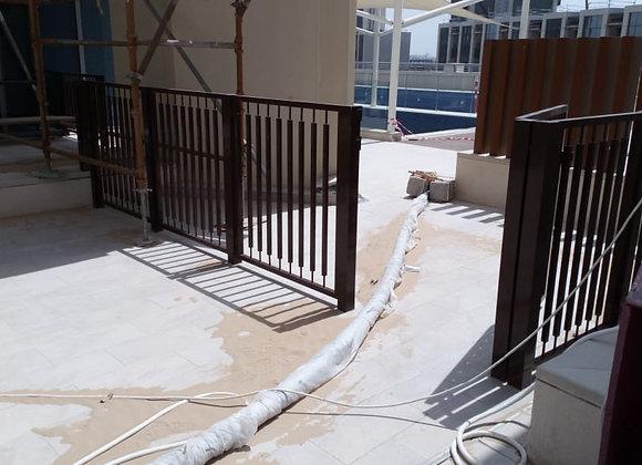 Aluminum Fence and Gate- Dubai Creek Harbour Plot 18