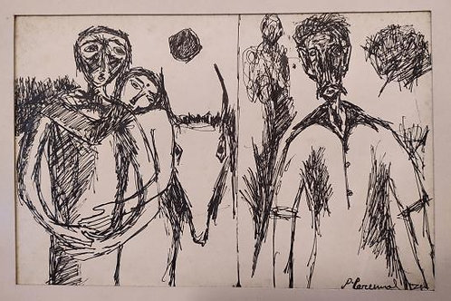 Ink on Paper Painting by P Perumal
