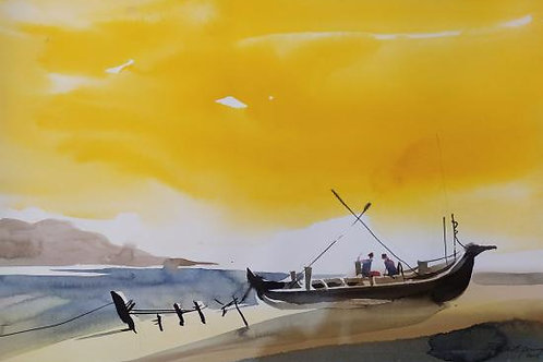 Watercolor Painting by Basanth Peringode