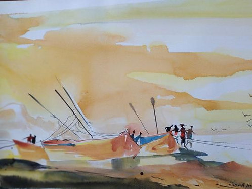 Watercolor Painting No 3 by Basanth Peringode
